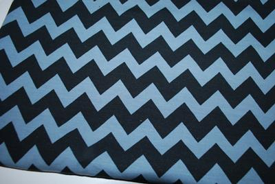 Sweat molleton chevron noir/gris - reste 50 cm