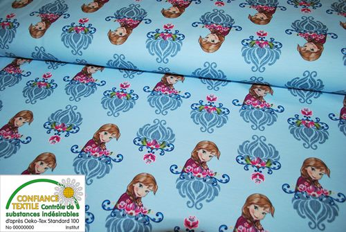 "Sweat bouclette Frozen ""Reine des neiges""  - coupon de 1 m"