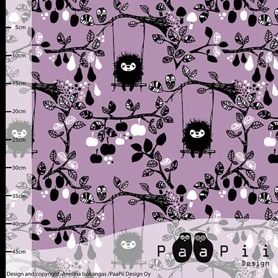 Jersey bio PaaPii Siiri in the swing fond lilas - par 50 cm
